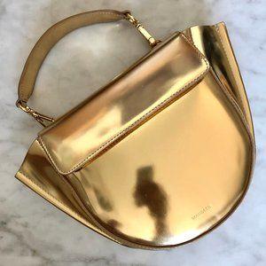 Wandler: Gold Leather Hortensia Bag